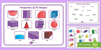 3D Shape Vocabulary Word Mat - 2D Shape Word Mat, Word mat, writing aid, 2D Shape names, Shape Flashcards, Shape Pictures, Shape Wo