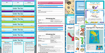 EYFS Under the Sea Bumper Planning Pack - planning pack, sea