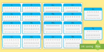 year 5 and 6 cursive handwriting Cards - Cursive Handwriting Cards - Uk, United Kingdom, English Handwriting Resources, Cursive handwriting,