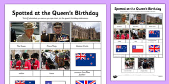 The Queen's Birthday Celebrations Spotter Worksheet / Activity Sheet - the queen's birthday, celebrations, spotter, activity, worksheet