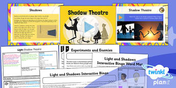 Science: Light: Shadow Theatre Year 6 Lesson Pack 6