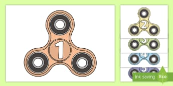1 to 20 on Fidget Spinners Display Posters - 3 x table, three times table,  maths, skip Years 1-3