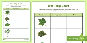 Tree Tally Chart Outdoor Activity - World Around Us KS2 - Northern Ireland, tree, tally, maths, outdoor, outdoor learning, nature, livin