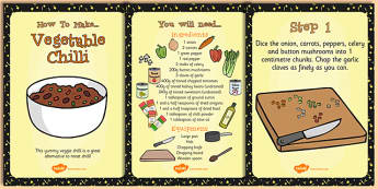 Vegetarian Chilli Recipe Cards - Vegetarian, Chilli, Recipe, Food