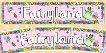 Fairyland Display Banner - fairyland, display banner, display