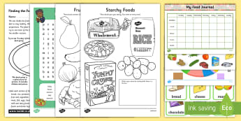 Healthy Eating, Living and Nutrition Activity Pack - Food, Eat, Well, 5, Day, Health, ,Scottish