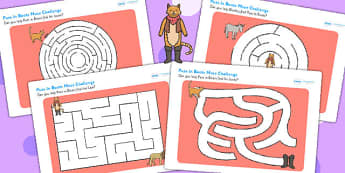 Puss in Boots Differentiated Maze Worksheet / Activity Sheet Pack - mazes, game, worksheet