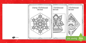 Mindfulness Colouring Christmas Cards English/Portuguese - Mindfulness Colouring Christmas Cards - mindfulness, colouring, christmas, cards,mindfullness, coler