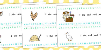 Farmer and Duck Alphabet Strips - farmer duck, alphabet strips, alphabet line, letter, a-z,a-z strip, a-z line, writing aid, themed alphabet strips, alphabet