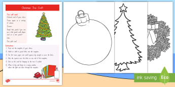 Christmas Tree Craft Activity - Xmas, ECE, art activities, fine motor, invitation to play, gifts