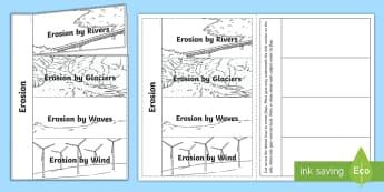 Erosion Writing Flaps Template - ACSSU075, beneath our feet, erode, weathering, Mechanical weathering,Australia