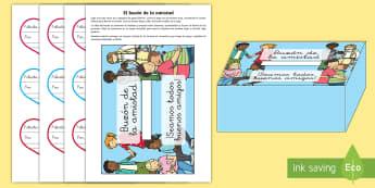 Buzón de felicitaciones - Decoración de la clase,Spanish