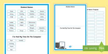 Computer Rota Display Poster - Assembly Rota - computer, ICT, rota, schedule, topics, timetable, Timw, monitor, ICT rota, Computers