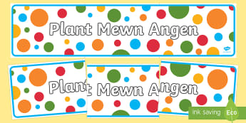 Plant Mewn Angen Banner - Priority Resources