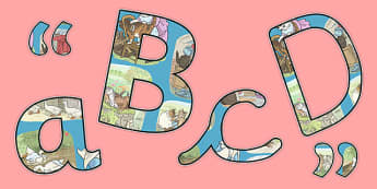 Beatrix Potter - The Tale of Tom Kitten Themed Size Editable Display Lettering - beatrix potter, tom kitten