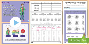Year 3 Term 2A Week 3 Spelling Pack - Spelling Lists, Word Lists, Spring Term, List Pack, SPaG