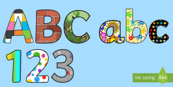 Cut Out Letters - display letter, classroom set up