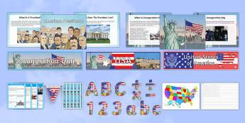 Inauguration Day  Resource Pack-Australia - KS1/2 Donald Trump Inauguration Day Jan 20th 2017,Australia
