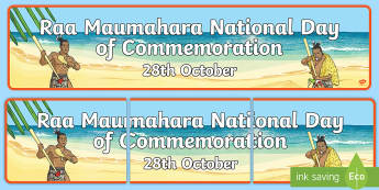 Raa Maumahara National Day of Commemoration Display Banner - Land wars, history, social studies, maori land wars, new zealand, commemoration day