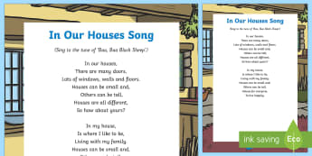 In Our Houses Song