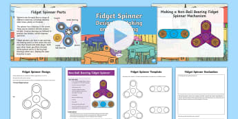 Grade 3-5 Making Fidget Spinners Resource Pack -  fidget spinner, fidget spinners, Fidget Spinner, Fidget Spinners, design and technology