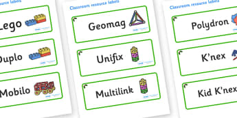 Holly Themed Editable Construction Area Resource Labels - Themed Construction resource labels, Label template, Resource Label, Name Labels, Editable Labels, Drawer Labels, KS1 Labels, Foundation Labels, Foundation Stage Labels