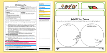EYFS Let's Fill Your Tummy Adult Input Plan and Resource Pack to Support Teaching on The Enormous Crocodile
