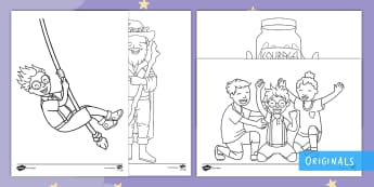 The Making of Milton Colouring Pages - colouring, colouring pages, KS1, EYFS, twinkl fiction, twinkl originals
