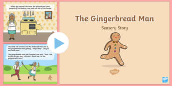 The Gingerbread Man Sensory Story PowerPoint