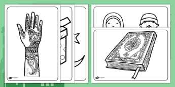 Eid Colouring Sheets- ESL Eid Resources