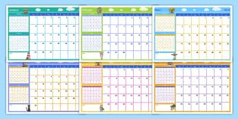 2018 Tema Vertoon Kalender  - jaar, jaarliks, jare, maand, week, weke