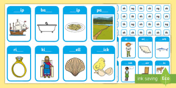 Phase 3 Digraphs 'ch', 'sh', 'th' and 'ng' Peg Matching Game - letters and sounds, phonics, Assessment, Phonics Screen, Fine Motor