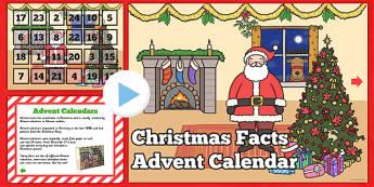 Christmas Facts Advent Calendar PowerPoint - festivities, festive