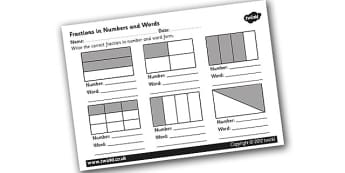 Fraction Labelling Worksheet - fractions, fraction worksheet, label the fractions, fraction labelling, halves, quarters, ks2 numeracy, numeracy worksheets