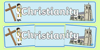 Christian Church Display Banner - Church, Christian, God Jesus, display banner, sign, posters, minister, Vicar, bible, bells, organ, Sunday, cross