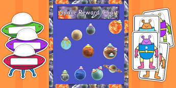 Year 5 Space Themed Reward Display Pack - year 5, space, reward