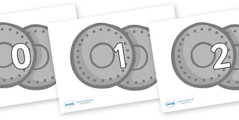 Numbers 0-50 on Shields - 0-50, foundation stage numeracy, Number recognition, Number flashcards, counting, number frieze, Display numbers, number posters