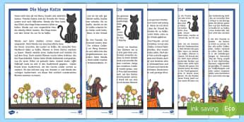 Die kluge Katze Geschichte zum Vorlesen - Halloween, Hexe, Zaubern, Lesen, Oktober,,German