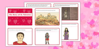 The Story of St Valentine Sequencing Cards 4 per A4 - EYFS, Early Years resources, festivals