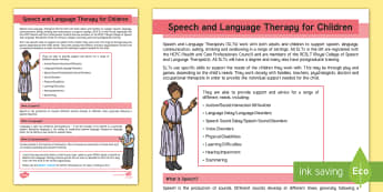 Speech and Language Therapy for Children Adult Guidance - SLCN, SLT, SaLT, SALT, speech therapy,