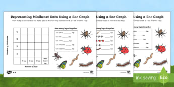 Minibeast Bar Graph Activity Sheet - World Around Us Resources