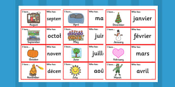 French Months Loop Cards - Month, visual, aids, French,  loop