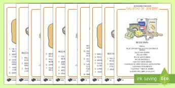 Receta: Galletas de jengibre Receta - receta, galletas de jengibre, cocinar, horno, galletas, galleta, recetas, cocina, dulces,Spanish