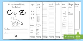 Cuadernillo de lecto: La C/Z - lecto, leer, lectura, sonidos, letra , lecto-escritura, letra,Spanish