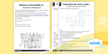 French: Getting to Know You Year 5 Home Learning Tasks - french, languages, grammar, tenses, future, job, spelling, accent, introduction