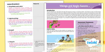 History: Vikings and Anglo-Saxons LKS2 Planning Overview