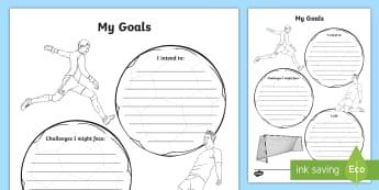 My Goals Activity Sheet - KS2 New Class Goal Setting