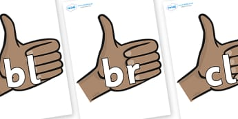 Initial Letter Blends on Thumbs Up - Initial Letters, initial letter, letter blend, letter blends, consonant, consonants, digraph, trigraph, literacy, alphabet, letters, foundation stage literacy