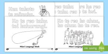 Maori Language Week Colouring Pages Te Reo Māori - Maori Language Week, Te Reo Maori, Proverbs, Whakatauki, Language