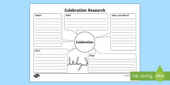 Celebrations Research Worksheet / Activity Sheet - Australian History, Australian Families, celebrations, investigation, worksheet, questions, question